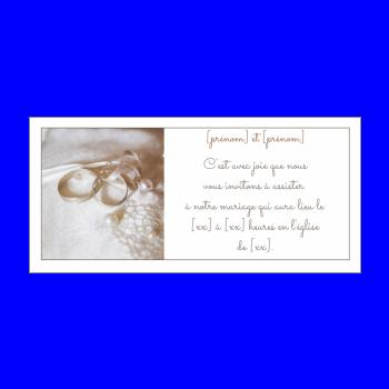 Invitation Faire Part Mariage Anneau Blanc