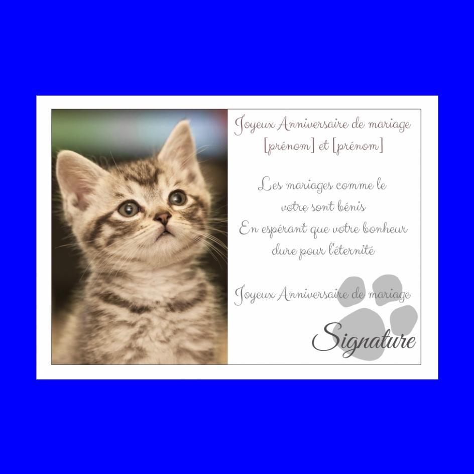 Carte Anniversaire Mariage Chat Noce Animaux Gratuit A Imprimer Carte 583