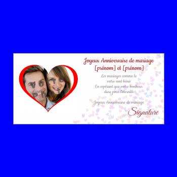 carte anniversaire mariage coeur noce rouge