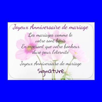 Carte Danniversaire De Mariage à Imprimer Gratuit