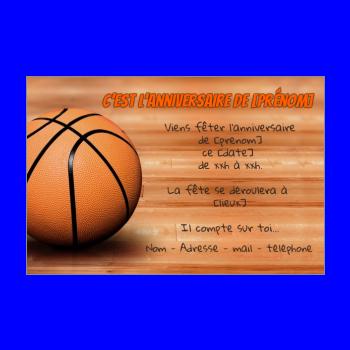 carte invitation anniversaire enfant sport