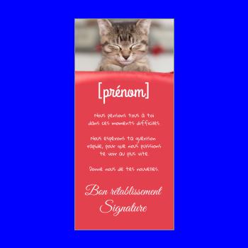 carte chat retablissement rouge