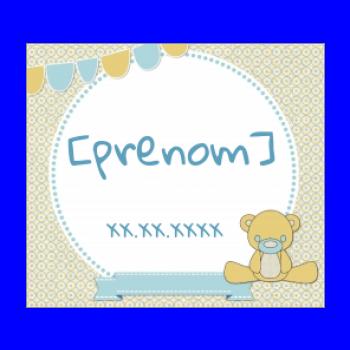etiquette cadeau naissance bebe jaune dessin animaux