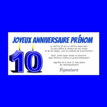Carte D Anniversaire Par Age A Imprimer 10 Ans 18 Ans 20 30 40