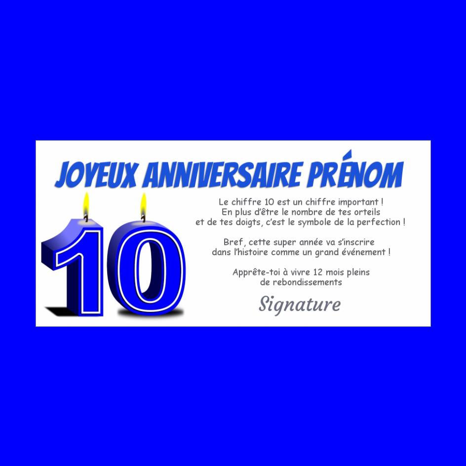 Carte Joyeux Anniversaire 10 Ans Bougie Gratuit A Imprimer Carte 1330