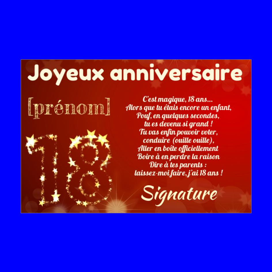 Carte Joyeux Anniversaire 18 Ans Jaune Gratuit A Imprimer Carte 2048