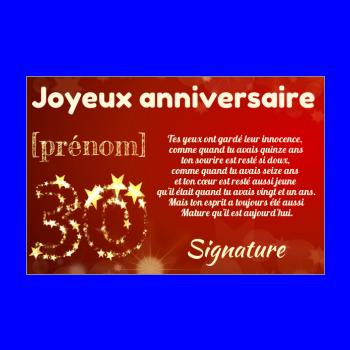 Carte Joyeux Anniversaire 30 Ans Jaune Gratuit A Imprimer Carte 2051