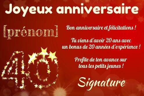 Carte Joyeux Anniversaire 40 Ans Jaune Gratuit A Imprimer Carte 2052