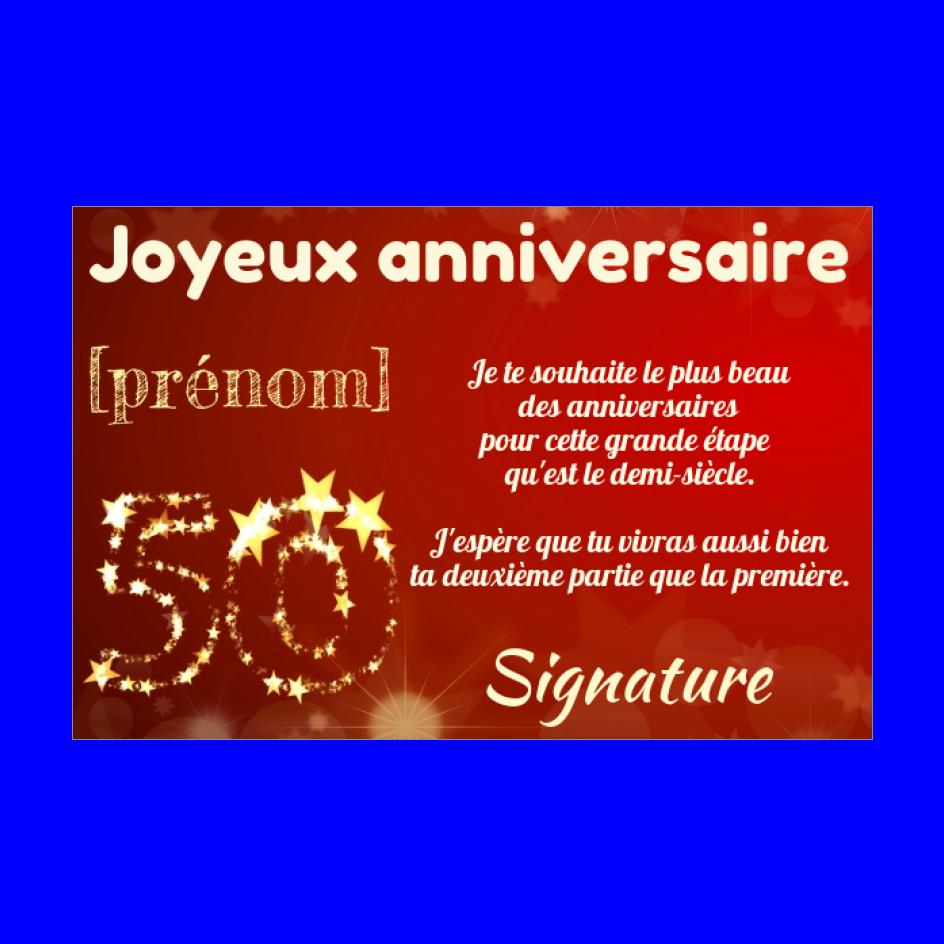 Carte Joyeux Anniversaire 50 Ans Jaune Gratuit A Imprimer Carte 2053