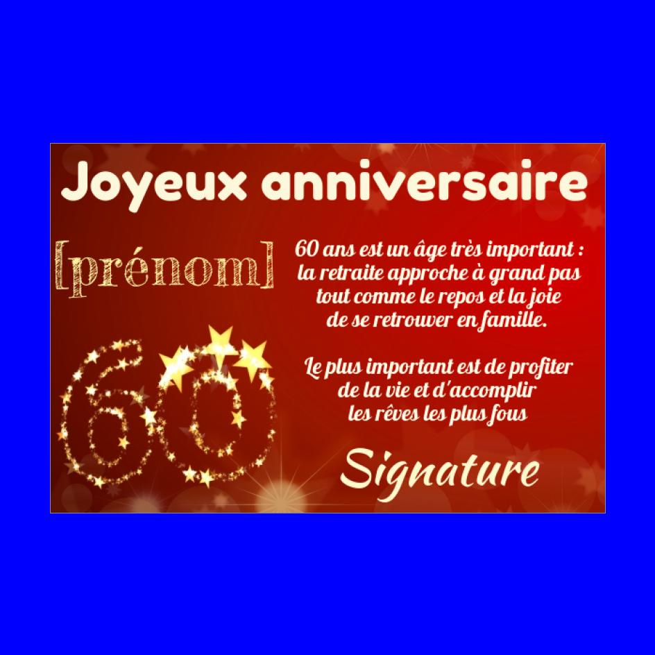 Carte Joyeux Anniversaire 60 Ans Jaune Gratuit A Imprimer Carte 2054