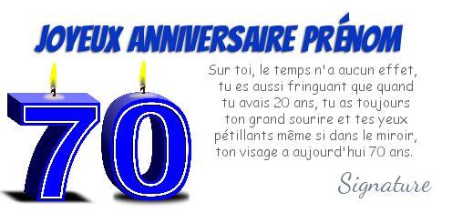 carte anniversaire 70 ans gratuite à imprimer humoristique Carte Joyeux Anniversaire 70 Ans Bougie gratuit à imprimer (carte