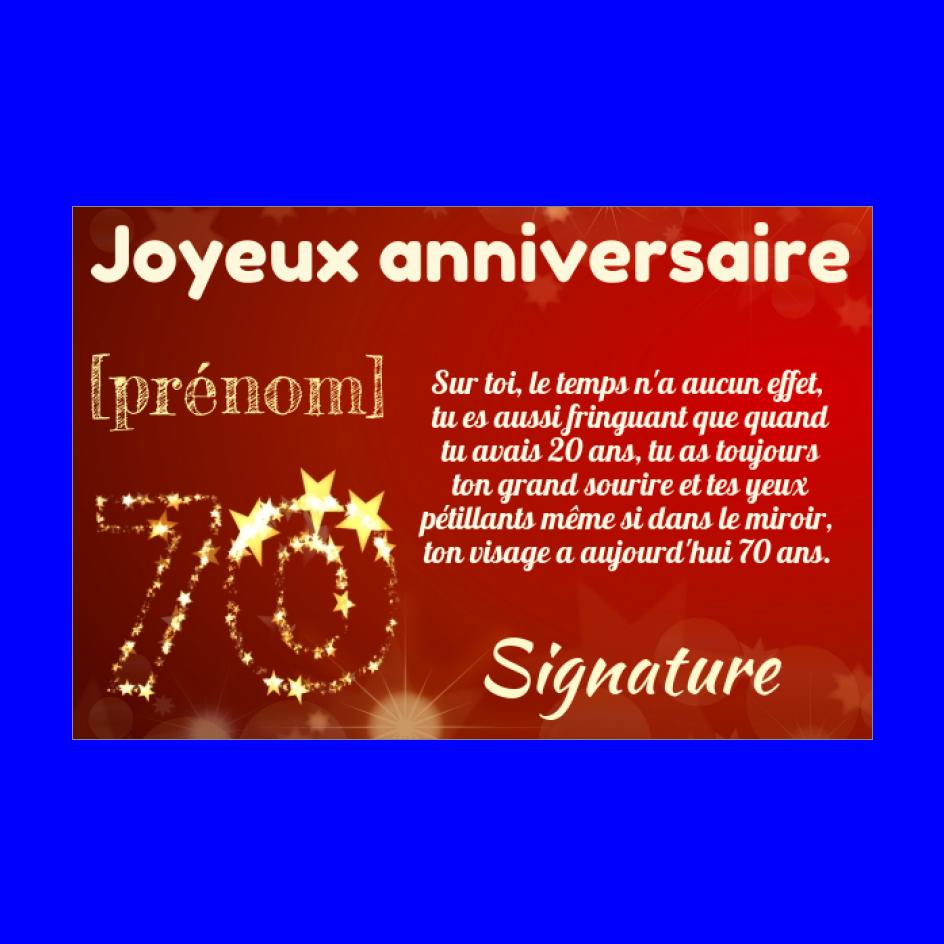 Carte Joyeux Anniversaire 70 Ans Jaune Gratuit A Imprimer Carte 2055