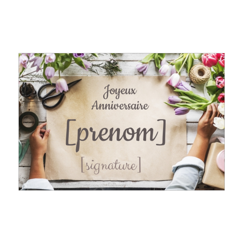 Carte Joyeux Anniversaire Fleur Marron Papier Gratuit A Imprimer Carte 2327