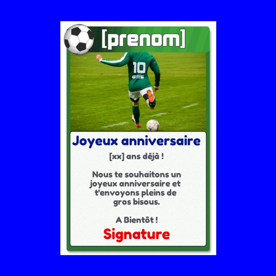 Carte Joyeux Anniversaire 10 Ans Football Gratuit A Imprimer Carte 2382