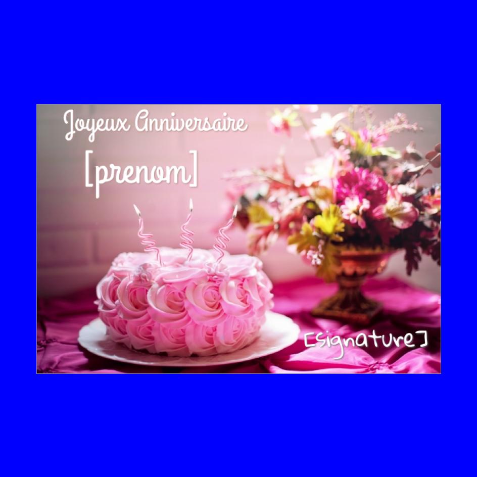 Carte Joyeux Anniversaire Fleur Gateau Rose Gratuit A Imprimer Carte 2118