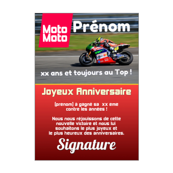 carte anniversaire joyeux magazine journal moto