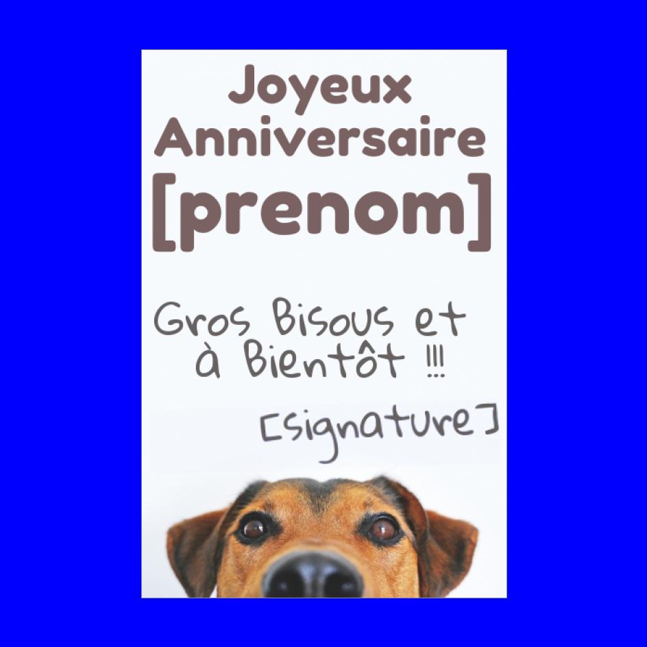 Carte Joyeux Anniversaire Chien Marron Animaux Gratuit A Imprimer Carte 2236