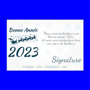 Carte De Vœux Pour La Nouvelle Annee 2019 A Imprimer Gratuit