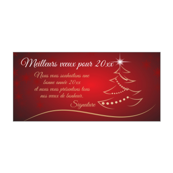 carte voeux meilleur nouvel an jaune rouge etoile sapin