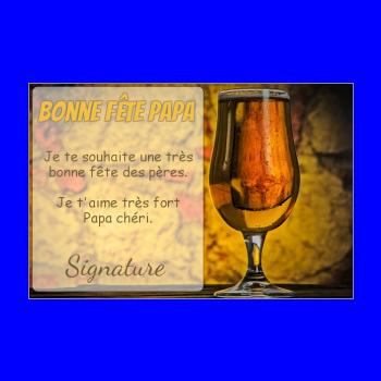 carte papa biere fete marron orange alcool