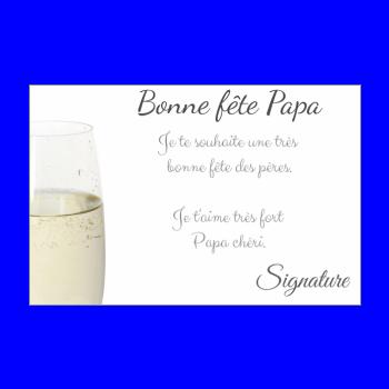 carte papa champagne fete elegant