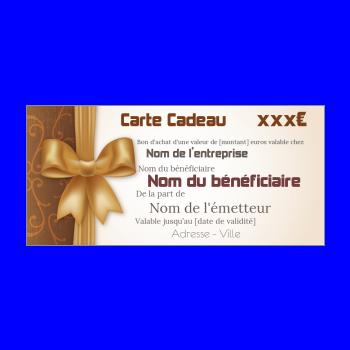 Carte Cadeau Personnalisée à Imprimer Gratuit