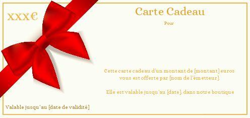 Carte Cadeau Rouge Ruban A Imprimer Carte 2988