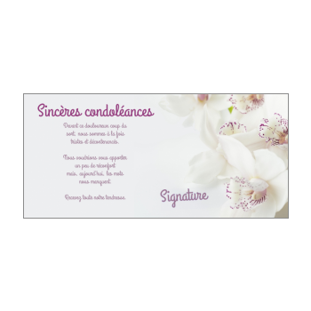carte de condoleances simple a imprimer gratuitement Carte de condoléances à imprimer gratuit