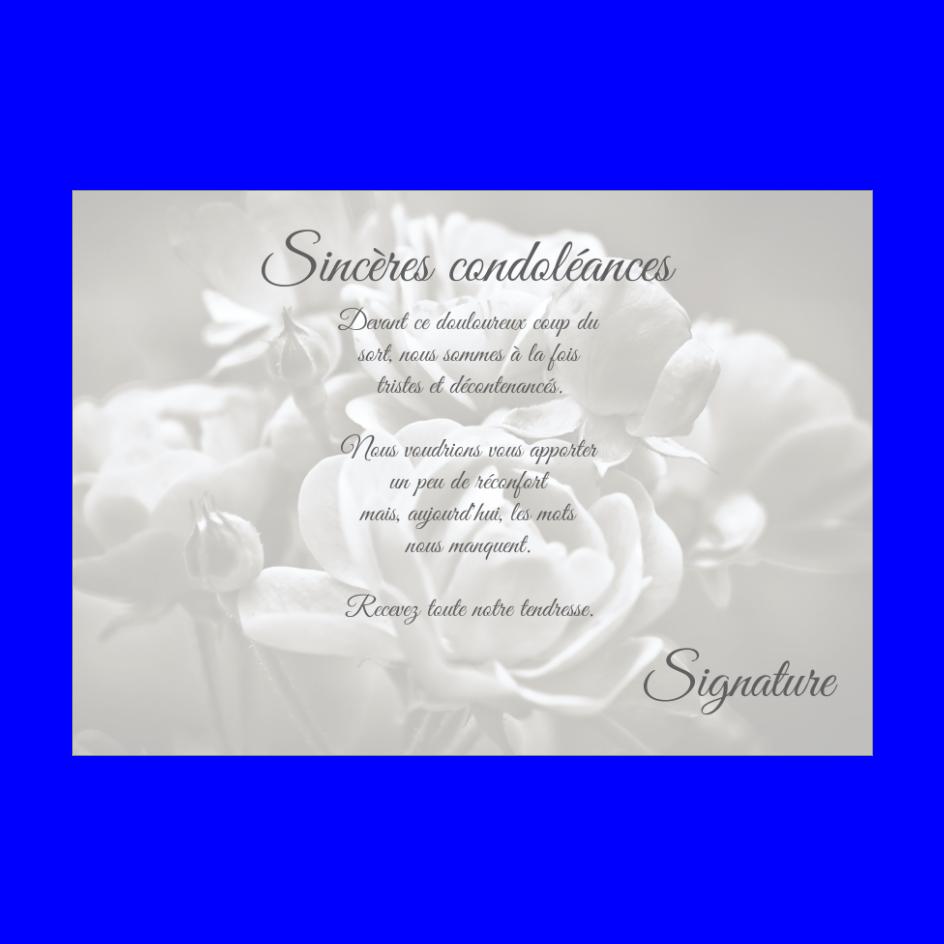 Carte Condoleances Rose Blanc Gris Gratuit A Imprimer Carte 2481