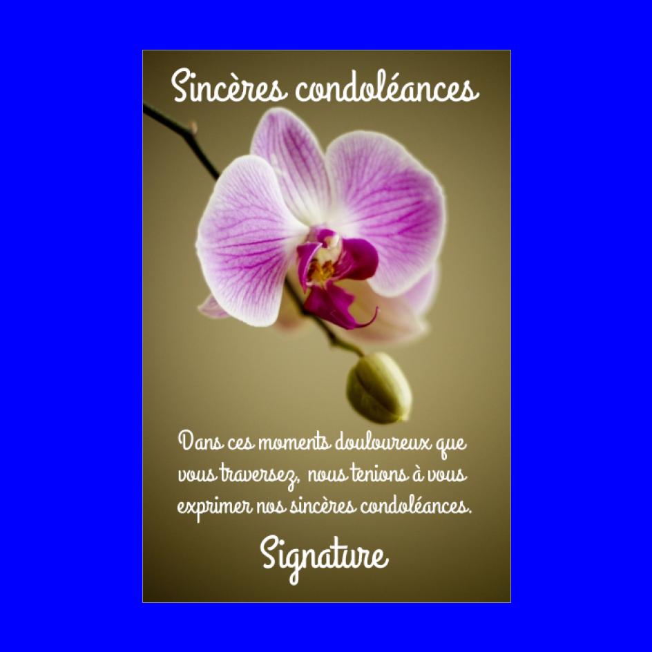 Carte Condoleances Fleur Mauve Marron Gratuit A Imprimer Carte 2957