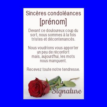Carte De Condoleances A Imprimer Gratuit