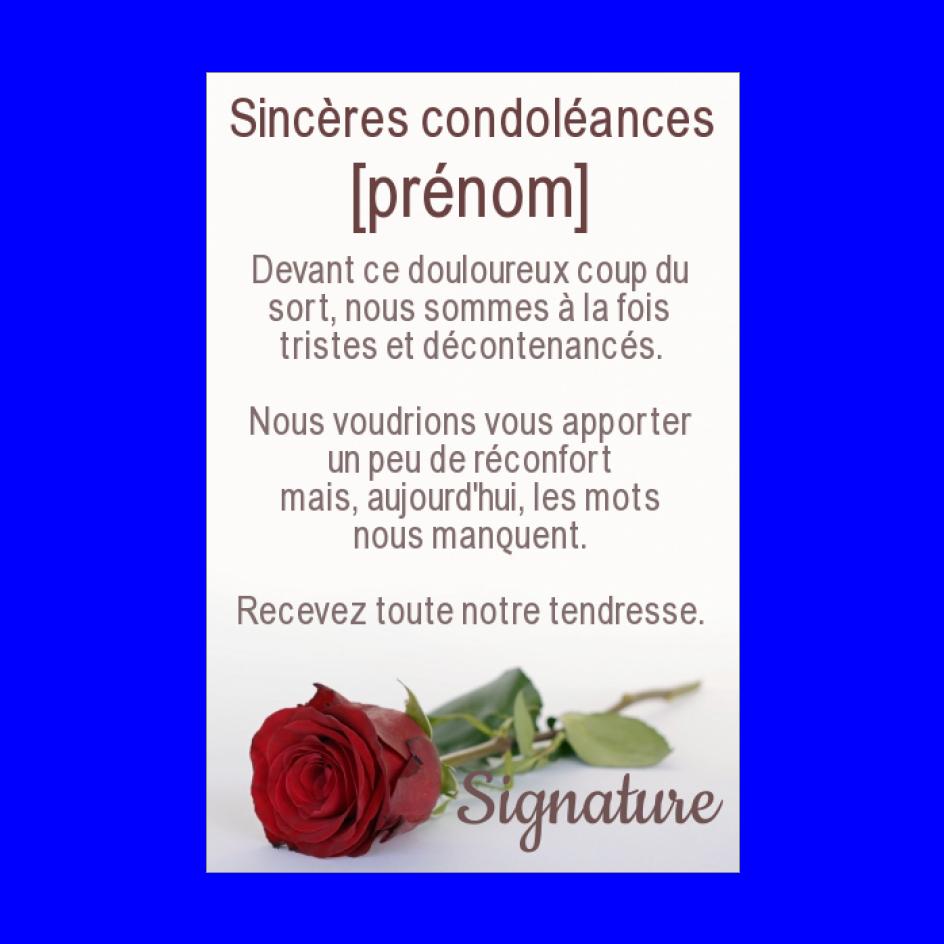 Carte Condoleances Fleur Rose Rouge Gratuit A Imprimer Carte 1279