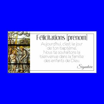 carte felicitation bapteme eglise dieu