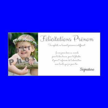 carte felicitation blanc