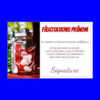 carte felicitation bonbon rouge
