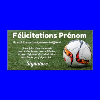 carte felicitation football ballon vert
