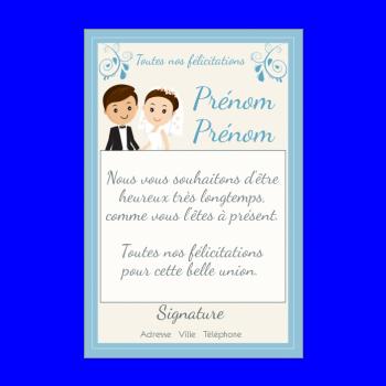 Carte De Félicitation Pour Un Mariage à Imprimer Gratuit
