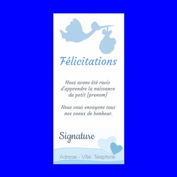 Carte De Felicitation Pour Une Naissance A Imprimer