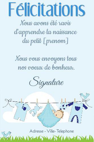 Carte Felicitation Naissance Bebe Garcon Bleu Gratuit à