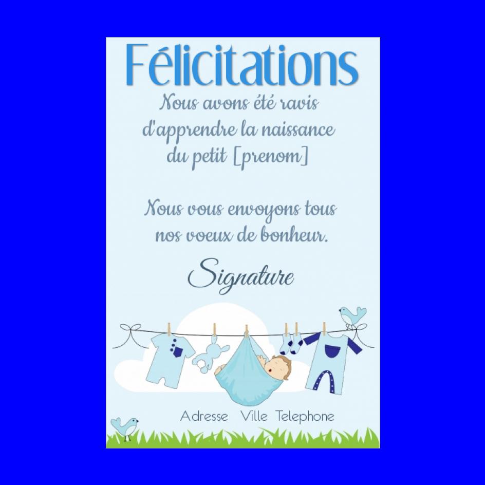 Carte Felicitation Naissance Bebe Garcon Bleu Gratuit A Imprimer Carte 759