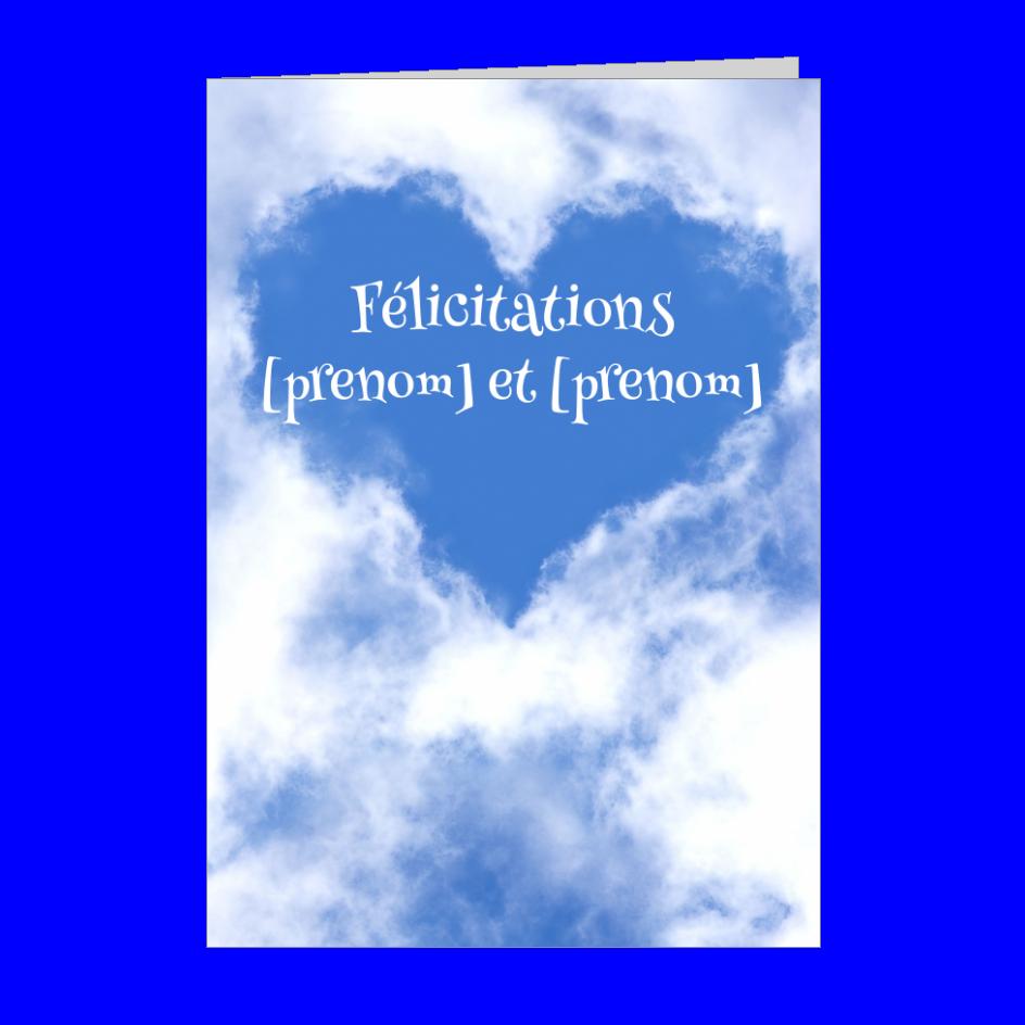 Carte Felicitation Naissance Bebe Bleu Nuage A Imprimer Carte 788