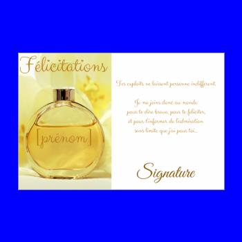 carte felicitation parfum jaune femme