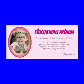 carte felicitation rose fille femme