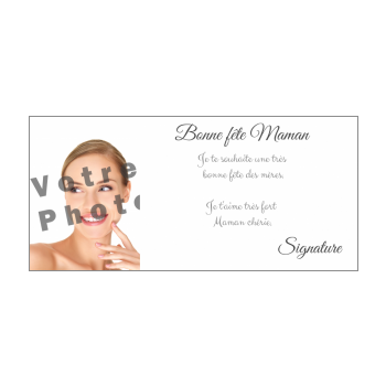carte maman fete blanc elegant