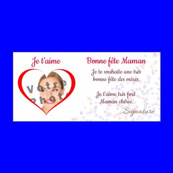 carte maman fete coeur rouge