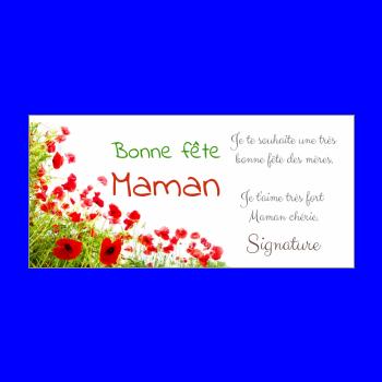 carte maman fleur fete vert rouge