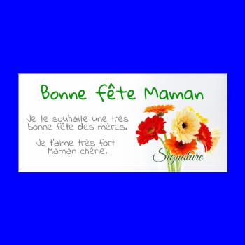carte maman fleur fete jaune orange