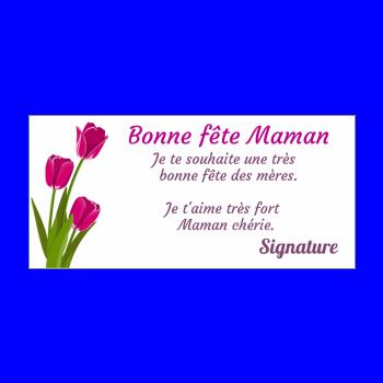 carte maman fleur fete rose mauve