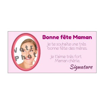 carte maman fete rose