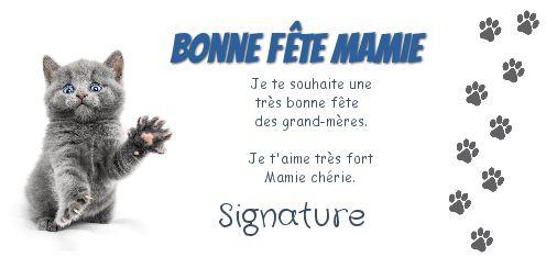 Carte grand mere fete chat bleu gratuit imprimer carte 1531 - Carte bonne fete mamie a imprimer ...